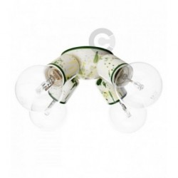 Four Lights Ceiling Lamp - Ceramic -Green Decor