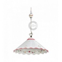 Hanging Lamp - Ceramic - Perforated, Burgundy Decor
