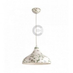 Hanging Lamp - Ceramic - Floral Decor