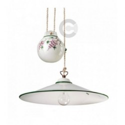 Hanging Lamp with Weight - Ceramic - Grapes Decor