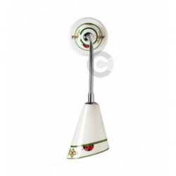 Flexible Wall Light - Ceramic and Chromed Iron - Ladybug Decor