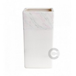 Hygienic Toothbrush Holder - Ceramic - Green Marble Decor