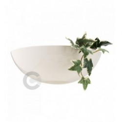 Half Bowl Wall Light With Open Bottom - Ceramic - Flower Stand