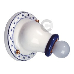 Applique in ceramica, decoro blu - 100% Made in Italy