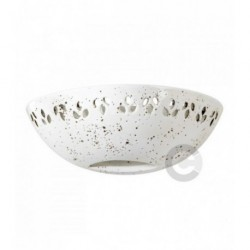 Half Bowl Wall Light With Open Bottom - Ceramic - Semi Gloss tarled decor with perforated frieze