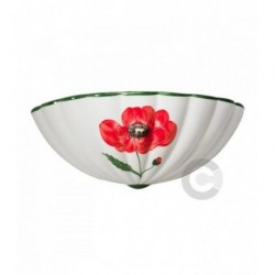Bowl Wall Light - Ceramic - Poppy decor