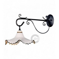 Lantern Wall Light - Anthracite Iron and Ceramic