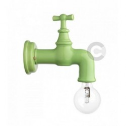 Wall Light Faucet - Pale Green Glossy Enamel
