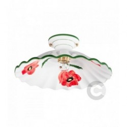 Ceiling Lamp - Ceramic - Poppy Decor