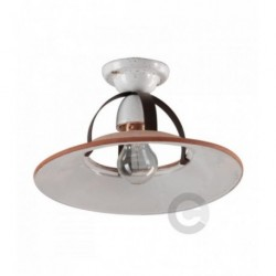 Ceiling Lamp - Burnished Metal and Ceramic - Convivium Decor