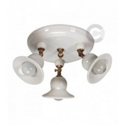 Three Lights Ceiling Lamp with Junction - Ceramic - Idea Decor
